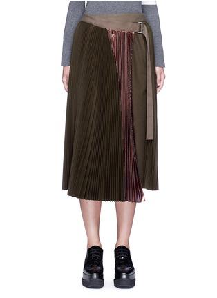 首图 - 点击放大 - SACAI - 拼色百褶羊毛半身裙
