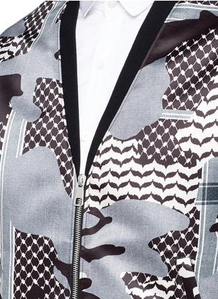 细节 - 点击放大 - NEIL BARRETT - 迷彩花纹缎面棒球外套