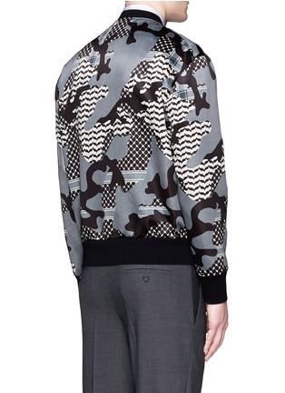 背面 - 点击放大 - NEIL BARRETT - 迷彩花纹缎面棒球外套