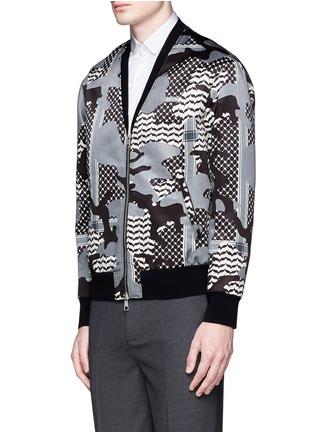 正面 -点击放大 - NEIL BARRETT - 迷彩花纹缎面棒球外套
