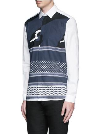 正面 -点击放大 - NEIL BARRETT - 迷彩头巾印花纯棉衬衫