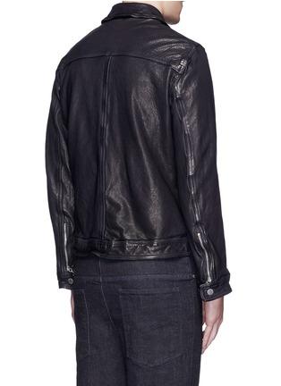 背面 - 点击放大 - NEIL BARRETT - 纹理牛皮外套