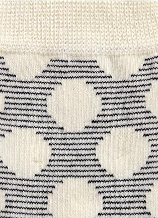 细节 - 点击放大 - HAPPY SOCKS - 波点条纹图案混棉袜子
