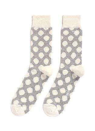 首图 - 点击放大 - HAPPY SOCKS - 波点条纹图案混棉袜子