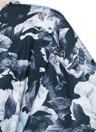 细节 - 点击放大 - WE ARE HANDSOME - 花卉条纹图案纯棉罩衫