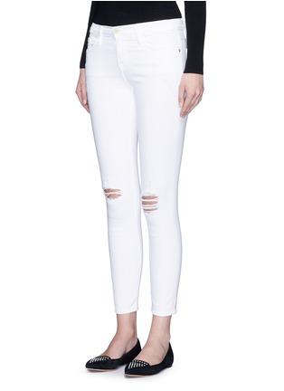正面 - 点击放大 - FRAME DENIM - LE SKINNY DE JEANNE CROP九分修身牛仔裤