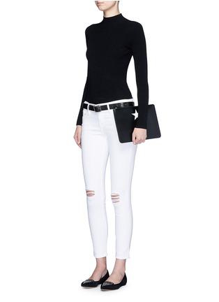 模特示范图 - 点击放大 - FRAME DENIM - LE SKINNY DE JEANNE CROP九分修身牛仔裤