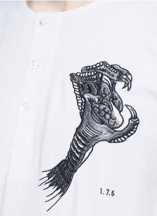 细节 - 点击放大 - SAAM1 - 龙形刺绣纯棉T恤