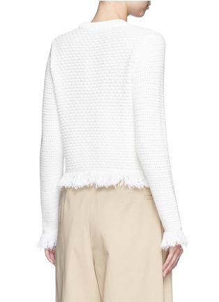 背面 - 点击放大 - PROENZA SCHOULER - 流苏混羊毛针织衫