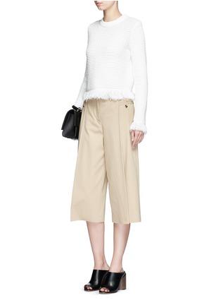 模特示范图 - 点击放大 - PROENZA SCHOULER - 流苏混羊毛针织衫