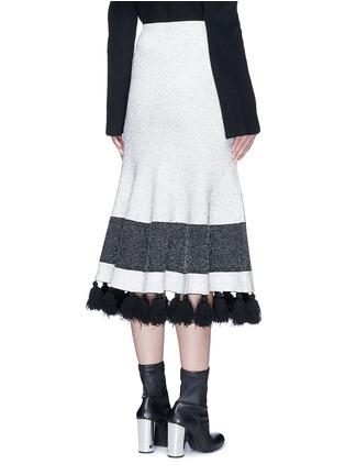 背面 - 点击放大 - PROENZA SCHOULER - 混色穗饰花呢半身裙