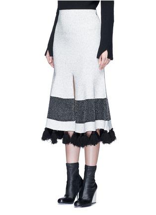 正面 -点击放大 - PROENZA SCHOULER - 混色穗饰花呢半身裙