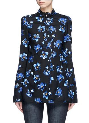 首图 - 点击放大 - PROENZA SCHOULER - 花卉图案喇叭袖上衣