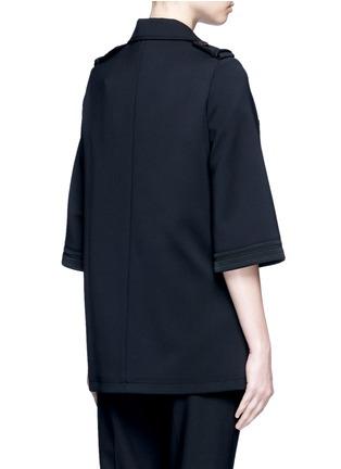 背面 - 点击放大 - NEIL BARRETT - 披风式混羊毛外套