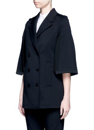 正面 -点击放大 - NEIL BARRETT - 披风式混羊毛外套