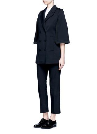 模特儿示范图 - 点击放大 - NEIL BARRETT - 披风式混羊毛外套