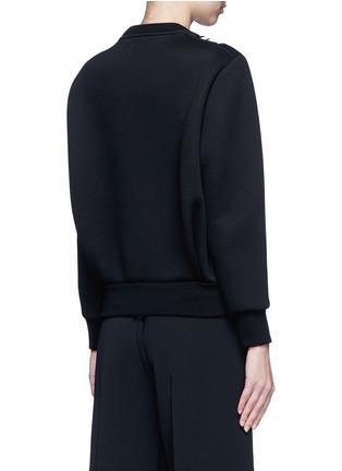 背面 - 点击放大 - NEIL BARRETT - 菱格缝线条纹拼贴卫衣