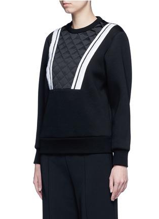 正面 -点击放大 - NEIL BARRETT - 菱格缝线条纹拼贴卫衣