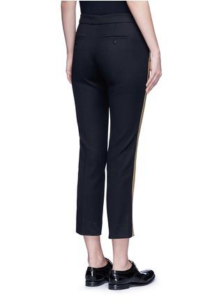 背面 - 点击放大 - NEIL BARRETT - 条纹拼贴棉质七分裤