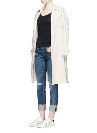 模特儿示范图 - 点击放大 - RAG & BONE/JEAN - 单色纯棉背心
