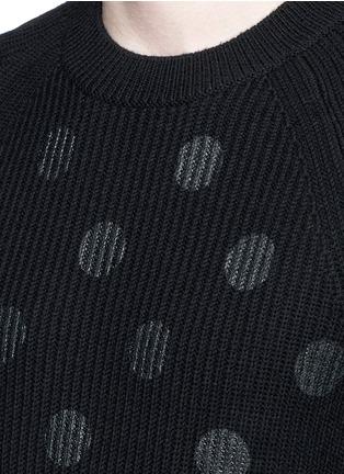 细节 - 点击放大 - PS Paul Smith - 波点图案美利奴羊毛针织衫