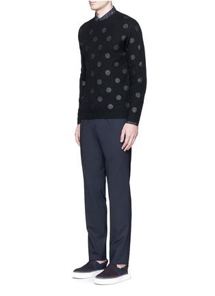 模特儿示范图 - 点击放大 - PS Paul Smith - 波点图案美利奴羊毛针织衫