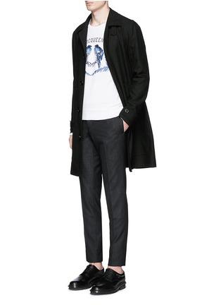 模特儿示范图 - 点击放大 - Alexander McQueen - 雀鸟刺绣纯棉卫衣