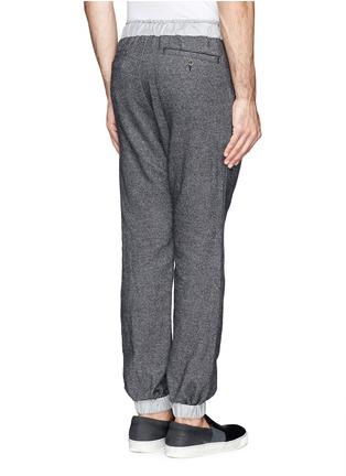 背面 - 点击放大 - SACAI - 羊毛混棉抽绳长裤