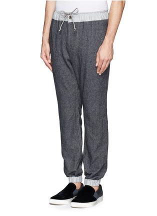 正面 -点击放大 - SACAI - 羊毛混棉抽绳长裤