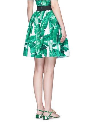 背面 - 点击放大 - DOLCE & GABBANA - 香蕉叶印花纯棉半身裙