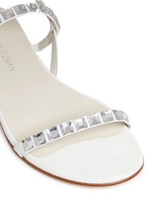 细节 - 点击放大 - STUART WEITZMAN - 仿水晶装饰牛巴戈凉鞋