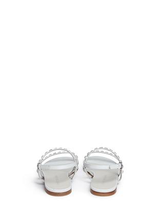 背面 - 点击放大 - STUART WEITZMAN - 仿水晶装饰牛巴戈凉鞋