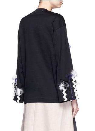 背面 - 点击放大 - TOGA ARCHIVES - 编织带大理石纯棉长袖T恤