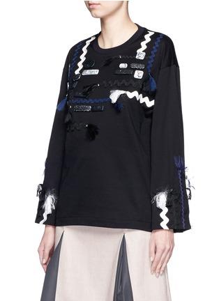 正面 - 点击放大 - TOGA ARCHIVES - 编织带大理石纯棉长袖T恤