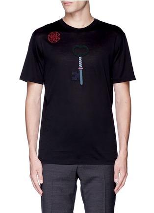 首图 - 点击放大 - LANVIN - 拼贴装饰纯棉T恤