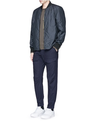 模特示范图 - 点击放大 - DENHAM - MUNICH工装感拼接长裤