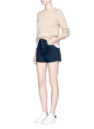 模特示范图 - 点击放大 - HELMUT LANG - 原色纯棉牛仔短裤