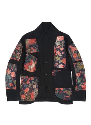 细节 - 点击放大 - ZIGGY CHEN - 棉混亚麻层次西服外套