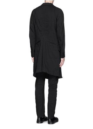 背面 - 点击放大 - ZIGGY CHEN - 棉混亚麻单色大衣