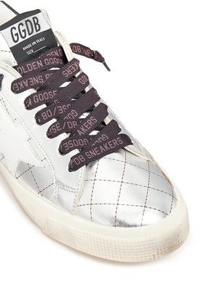 细节 - 点击放大 - GOLDEN GOOSE - May五角星拼贴菱格纹平底鞋