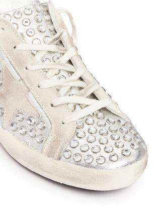 细节 - 点击放大 - GOLDEN GOOSE - Super Star仿水晶铆钉装饰真皮平底鞋