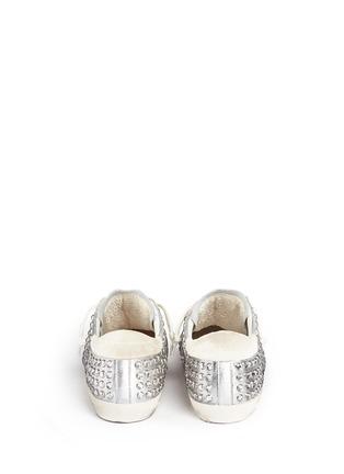 背面 - 点击放大 - GOLDEN GOOSE - Super Star仿水晶铆钉装饰真皮平底鞋