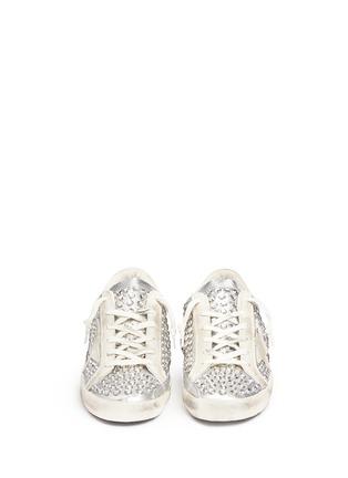 正面 -点击放大 - GOLDEN GOOSE - Super Star仿水晶铆钉装饰真皮平底鞋