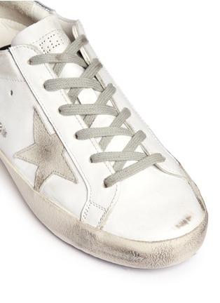 细节 - 点击放大 - GOLDEN GOOSE - Super Star仿旧真皮平底鞋