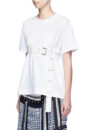 正面 - 点击放大 - SACAI - 腰带装饰纯棉T恤