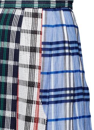 细节 - 点击放大 - RHIÉ - 格纹拼接褶裥半身裙