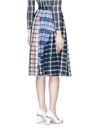 背面 - 点击放大 - RHIÉ - 格纹拼接褶裥半身裙