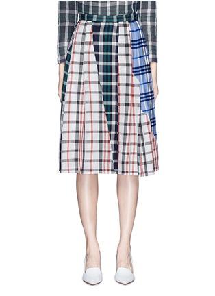 首图 - 点击放大 - RHIÉ - 格纹拼接褶裥半身裙