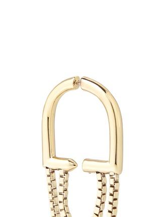 细节 - 点击放大 - EDDIE BORGO - 细链条环形垂坠耳环