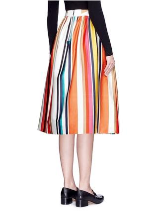 背面 - 点击放大 - ALICE + OLIVIA - NIKOLA彩色条纹褶裥半身裙